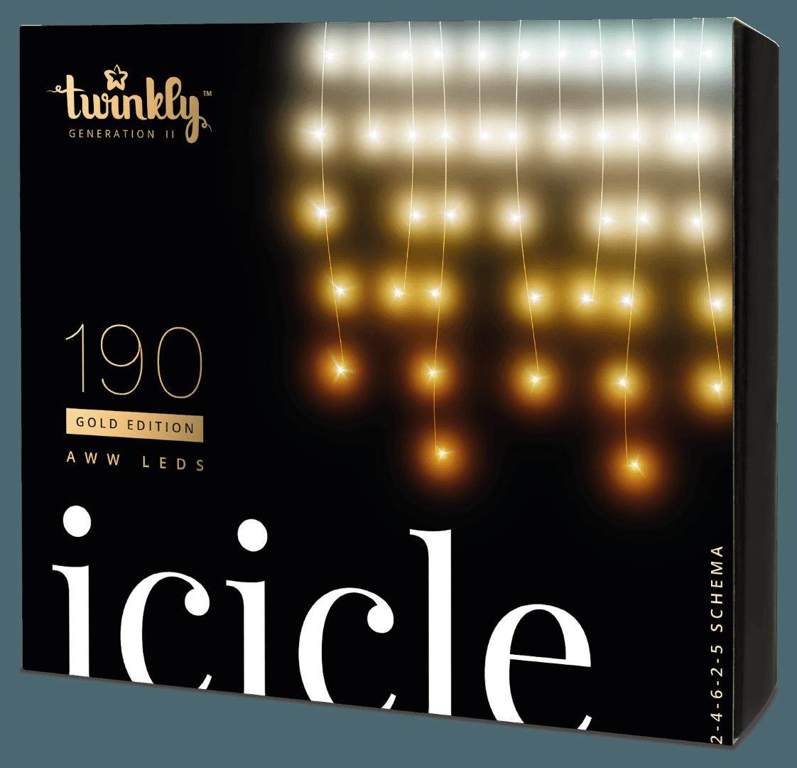 Twinkly 190 AWW LEDs Icicle Lights - Generation II