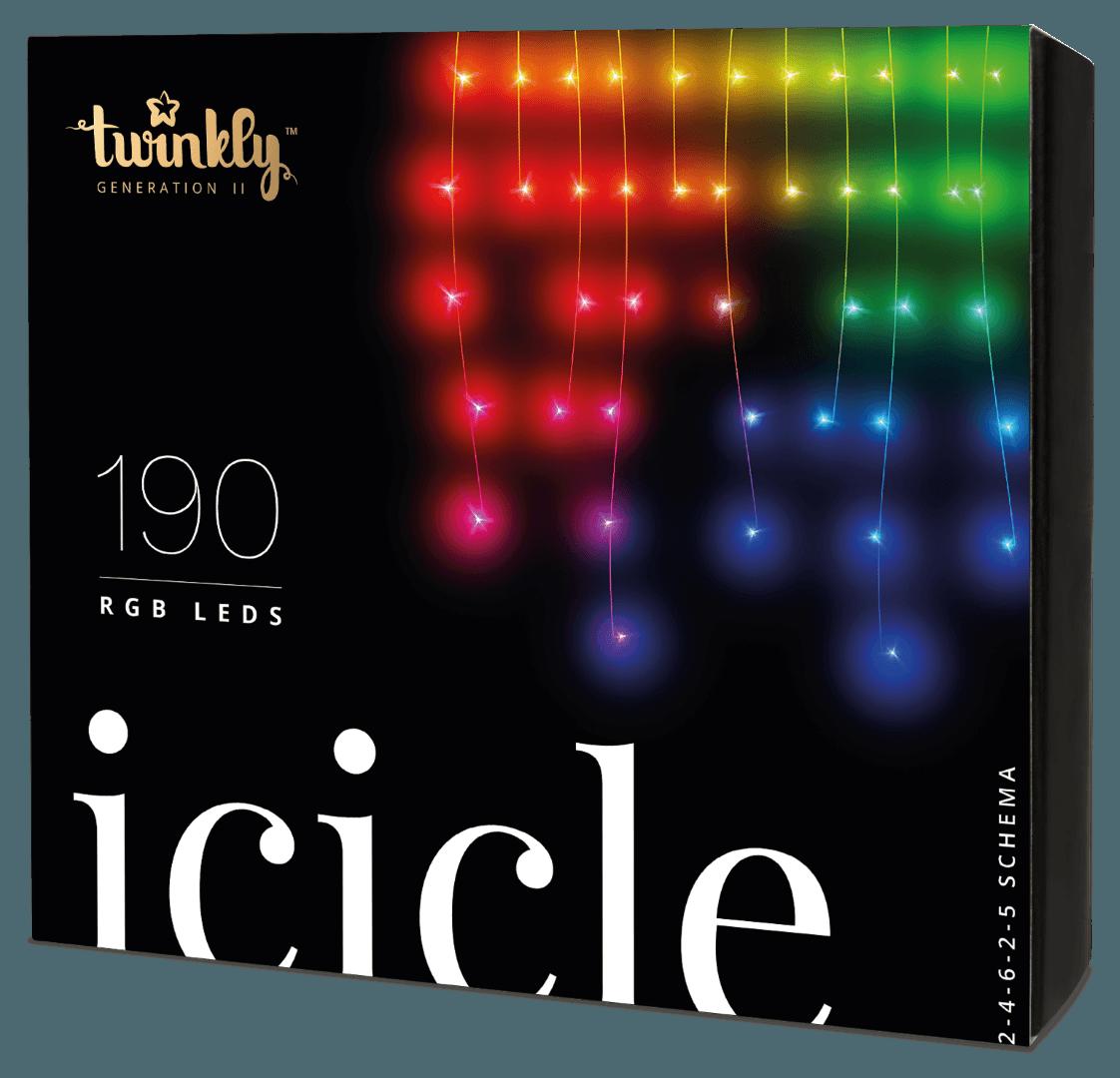 Twinkly 190 RGB LEDs Icicle Lights - Generation II