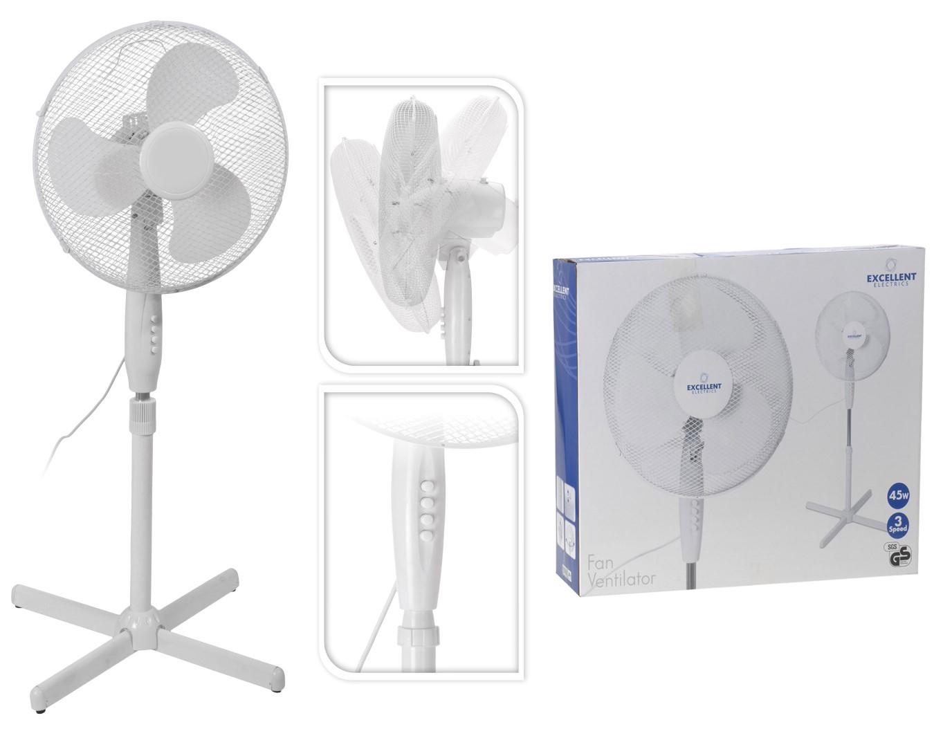 Ventilator staand dia 40cm 220 v - 45 watt