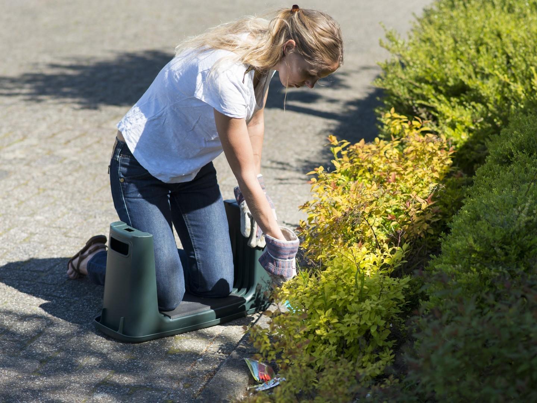 Nature tuinkruk knielkruk 2in1 groen