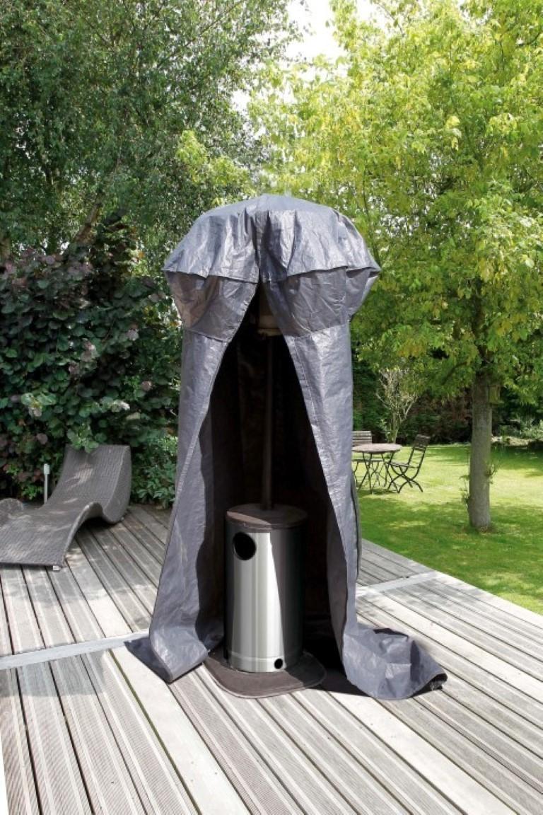 Beschermhoes voor terrasverwarmer grijs PE H250x dia. 128/62cm