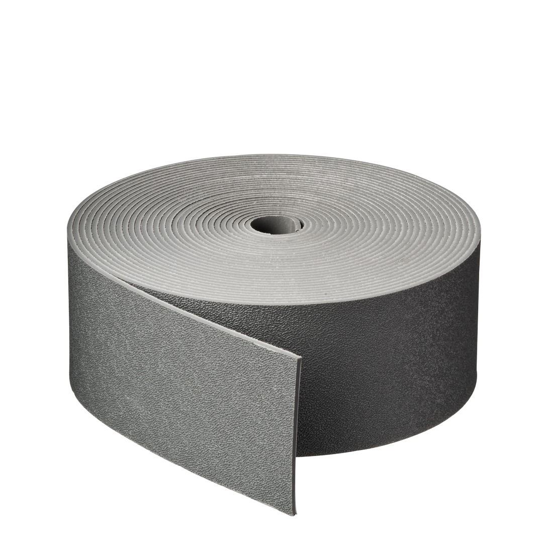 Borderrand grijs H7,5 cm x 10 m dikte 3 mm