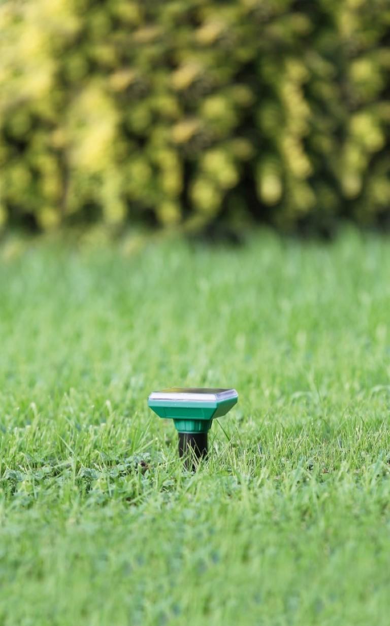 Diervriendelijke mollenverjager solar met ultrasoon geluid H28x dia. 6,5cm