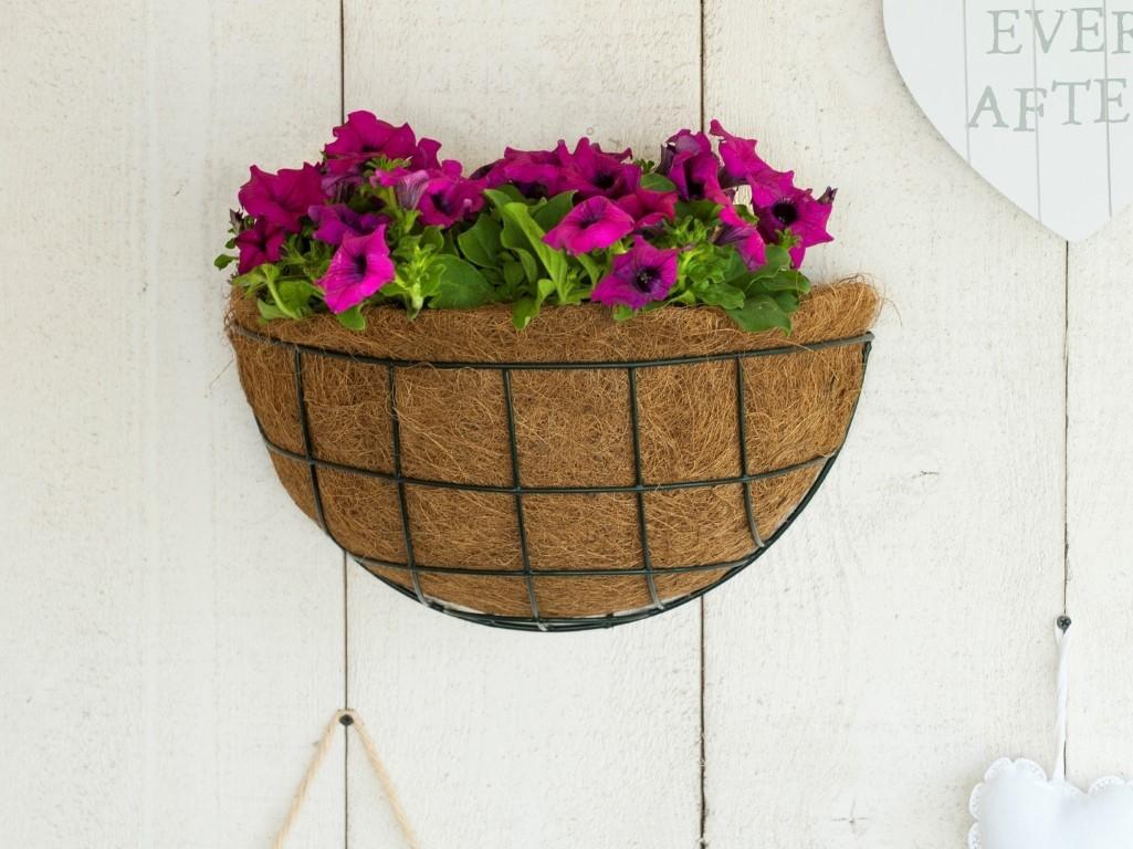 Hanging basket metaaldraad groen geepoxeerd