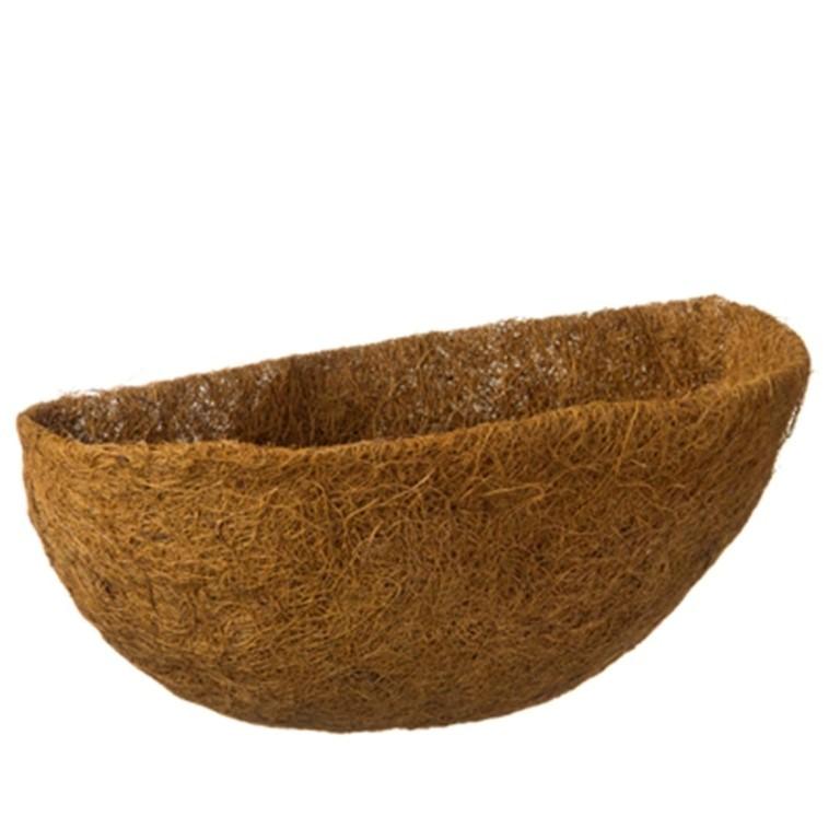 Kokosinlegvel voor hanging basket voorgevormd met waterkering een halve dia. 40cm