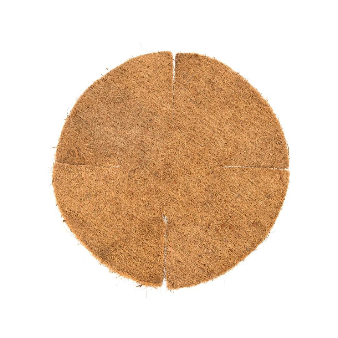 Kokosinlegvel voor hanging basket plat met waterkering dia. 40 cm voor dia. 25 cm basket