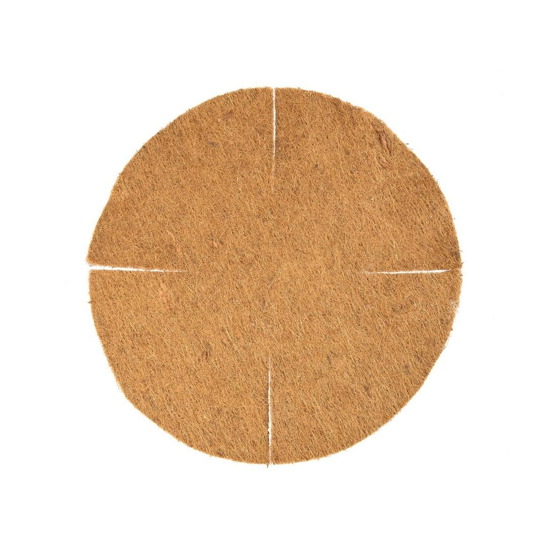 Kokosinlegvel voor hanging basket plat met waterkering dia. 55 cm voor dia. 35 cm basket