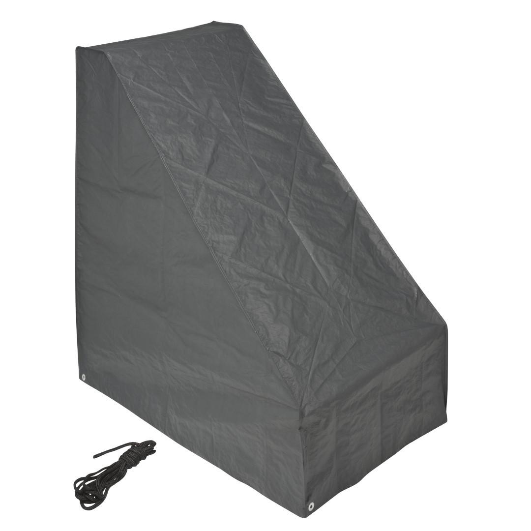 Beschermhoes voor grasmaaier grijs PE H103x90x56 cm