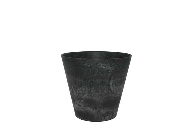 Bloempot Pot Claire zwart 17 x 15 cm Artstone