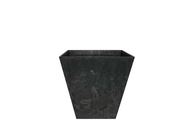 Bloempot Pot Ella zwart 15 x 15 cm Artstone