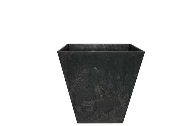 Bloempot Pot Ella zwart 20 x 20 cm Artstone