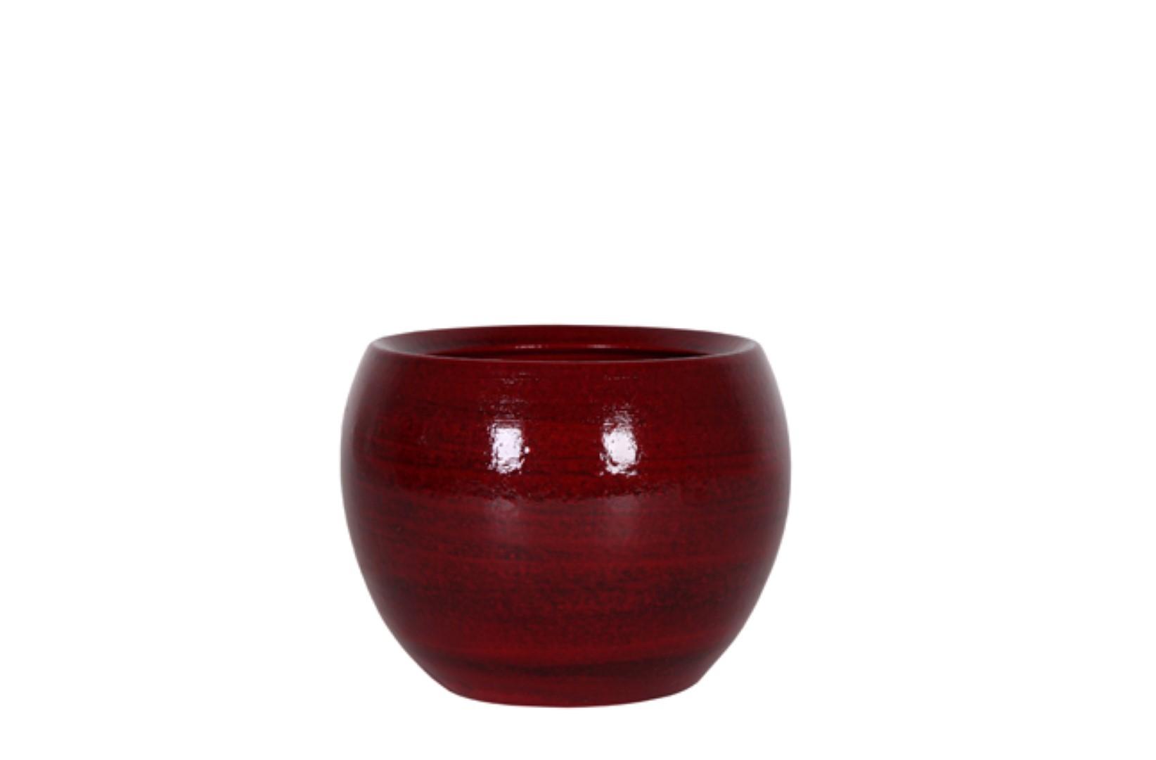 Bloembak Pot Cresta deep red D17 H13 cm TS