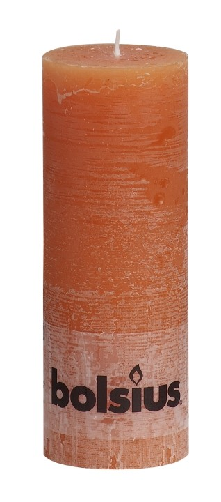 Stompkaars oranje Rustiek 190 x 68 mm
