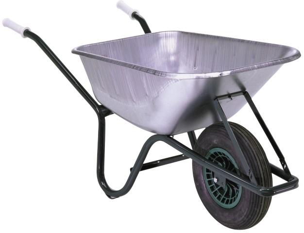 Kruiwagen 90 liter zink