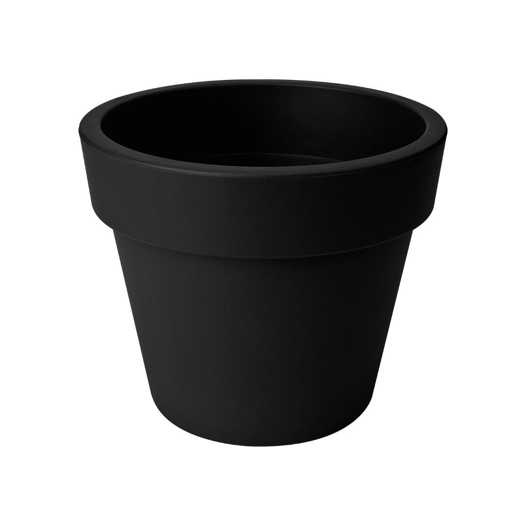 Bloempot Green basics top planter 40 cm living black elho