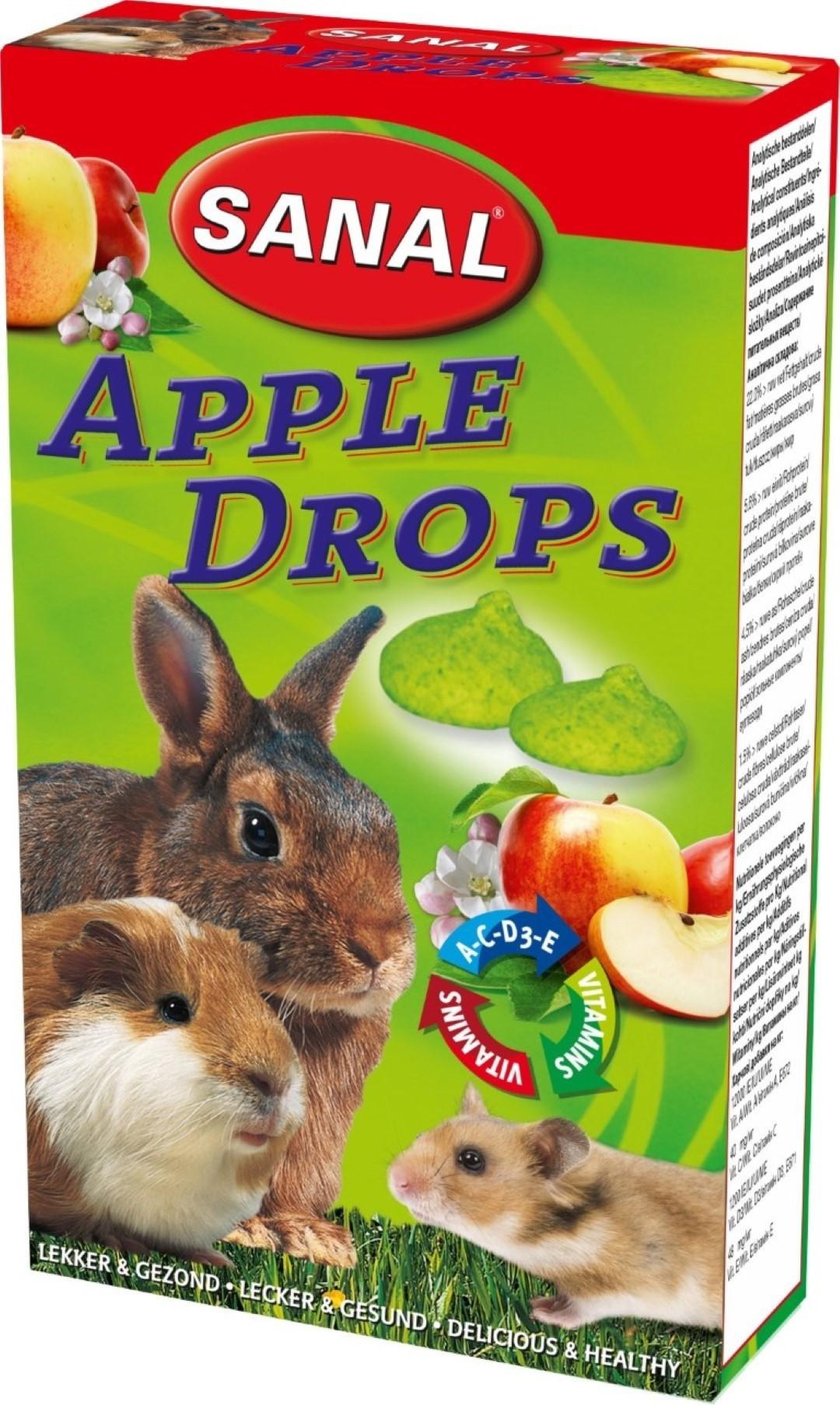 Sanal knaagdier apple drops 45 gram