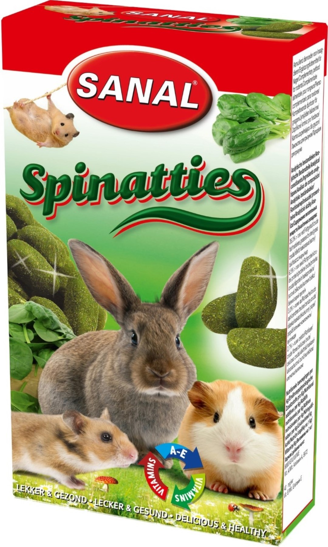 Sanal knaagdier spinatties 45 gram