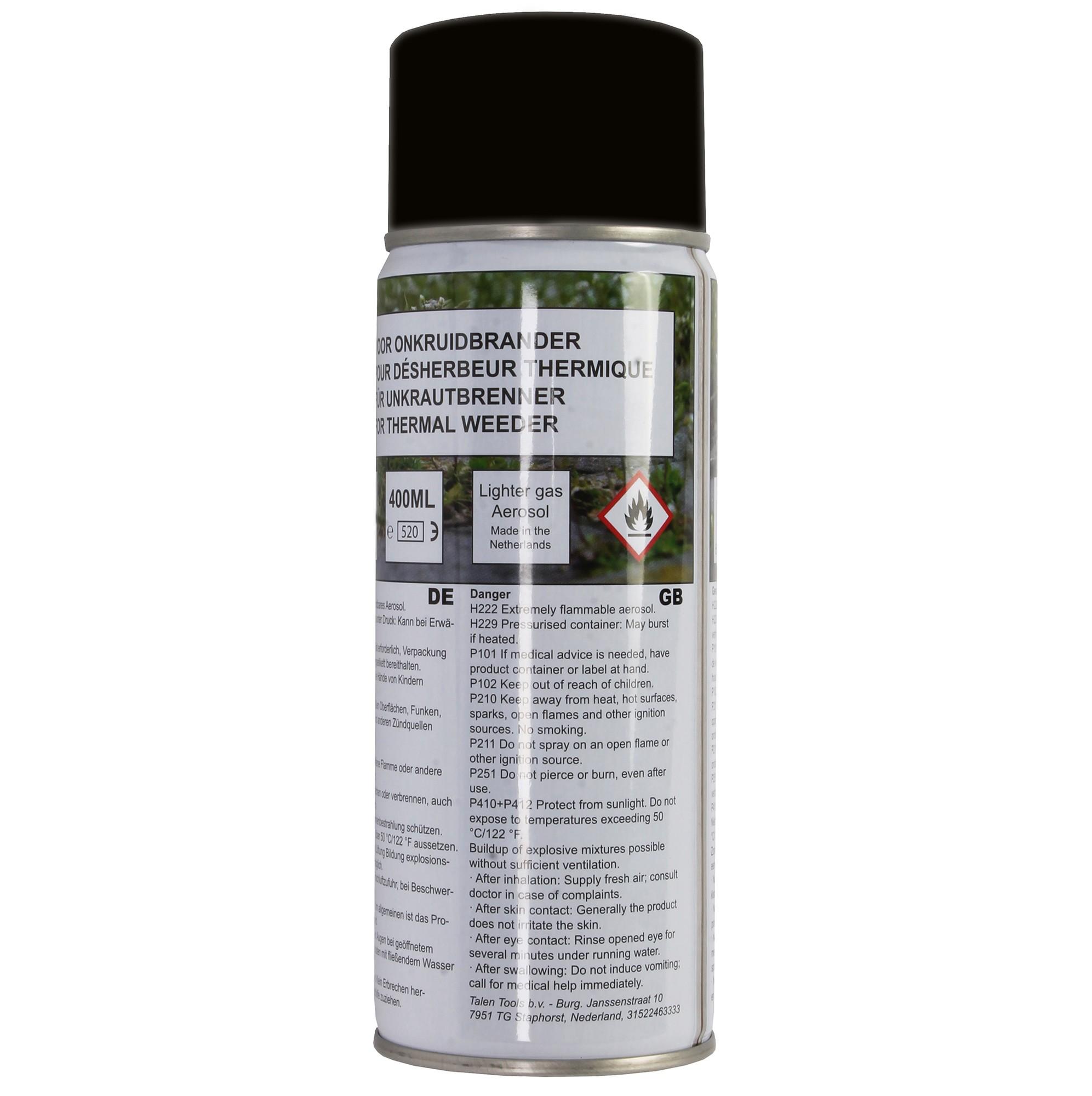 Gasfles voor onkruidbrander 400 ml