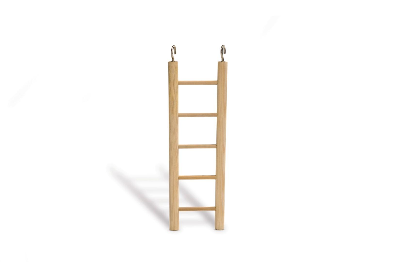 Houten ladder met 5 treden