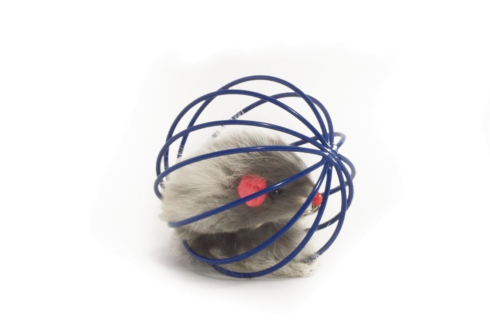Draadspeelbal met pluche muis ass
