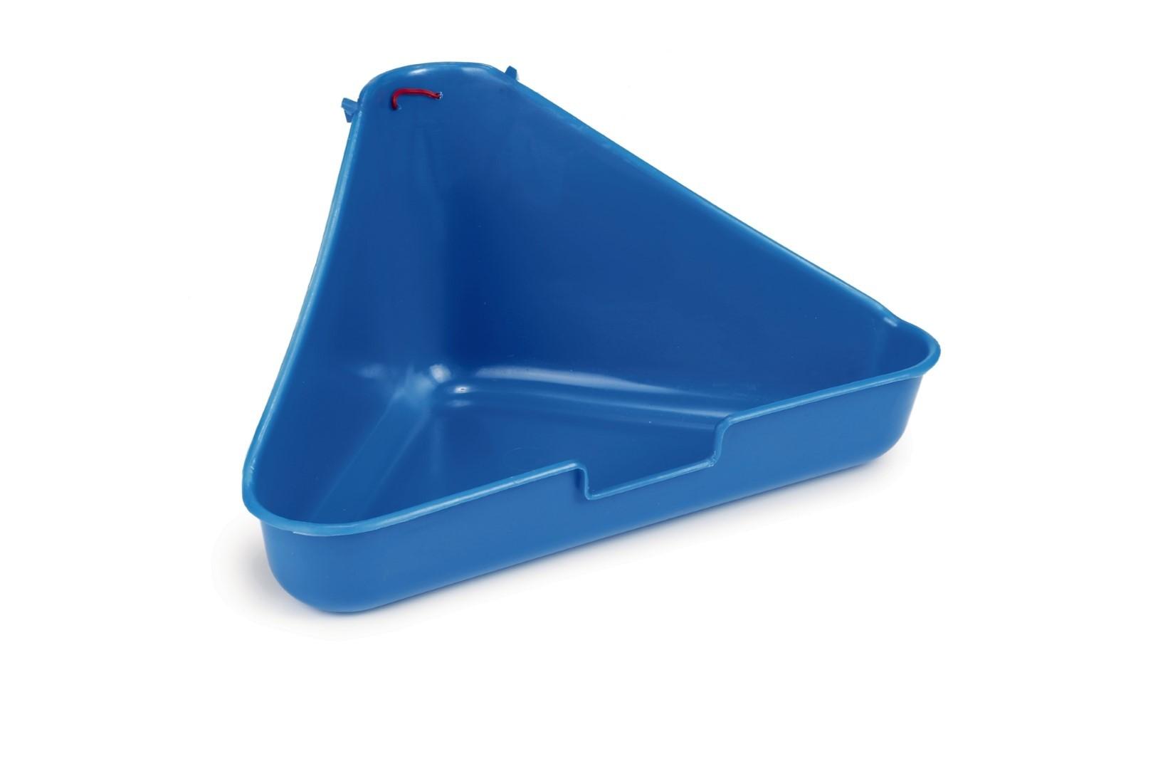 Hoektoilet voor fretten blauw