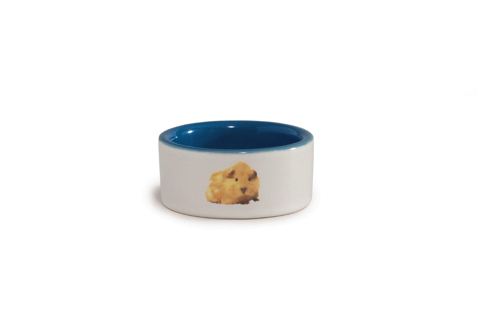 Keramieken hamstervoerbak blauw