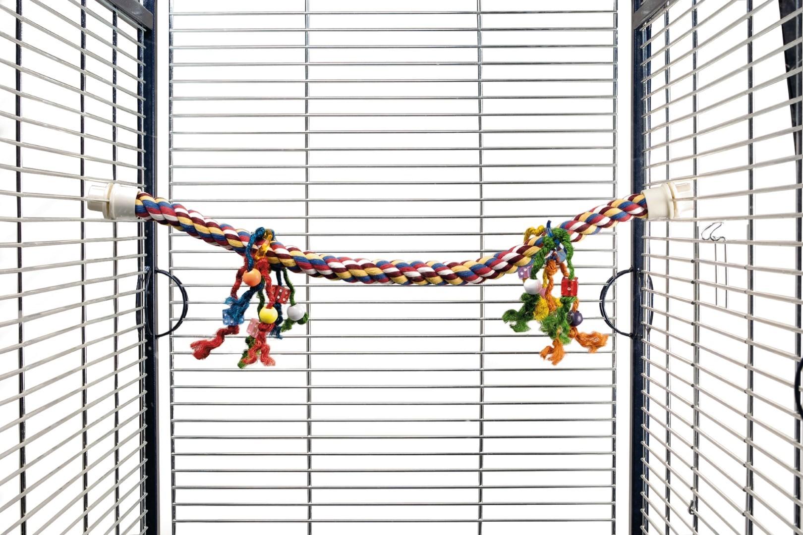 Katoen zitstok papegaaien 80x3