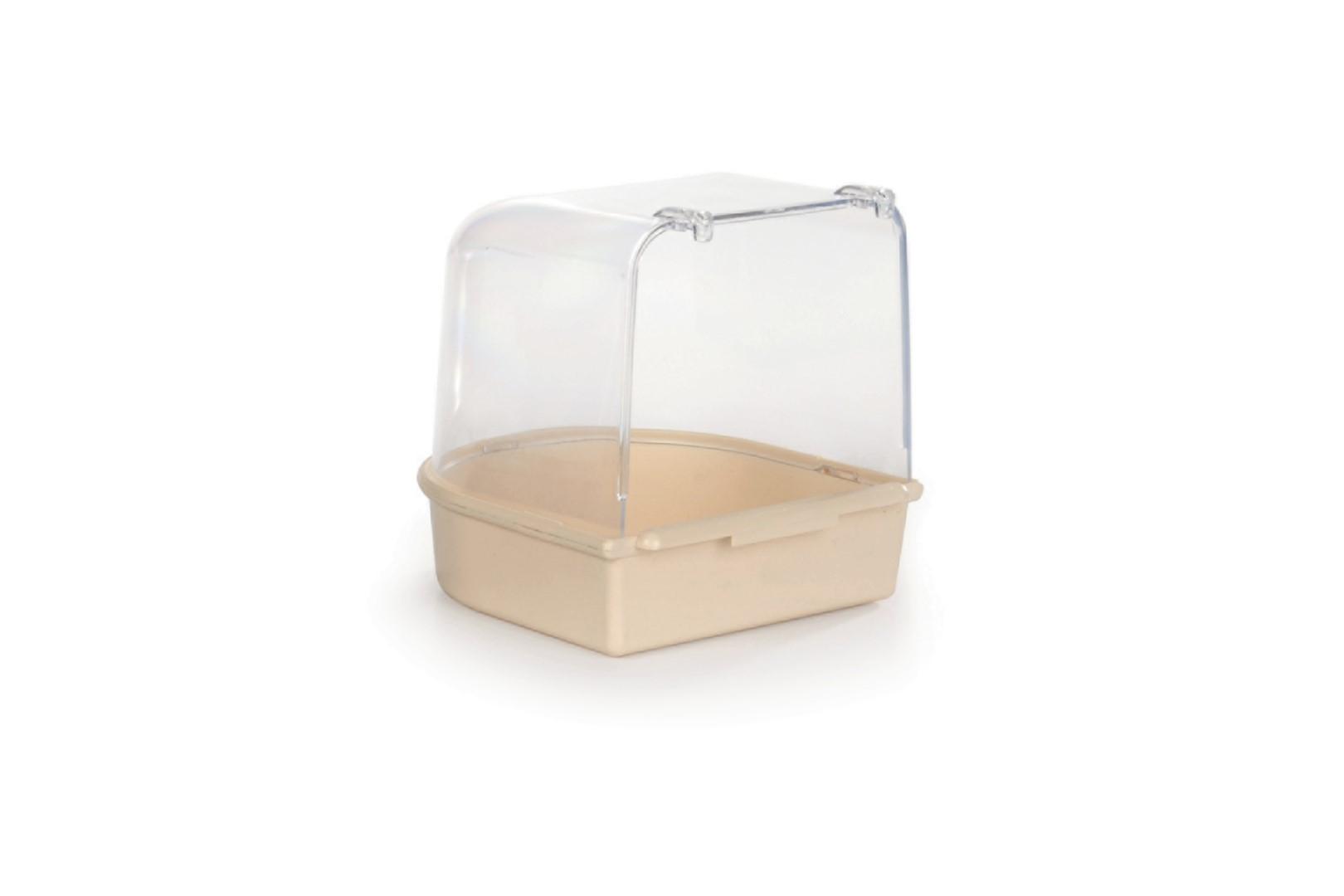 Plastic badhuisje beige 13x13x13