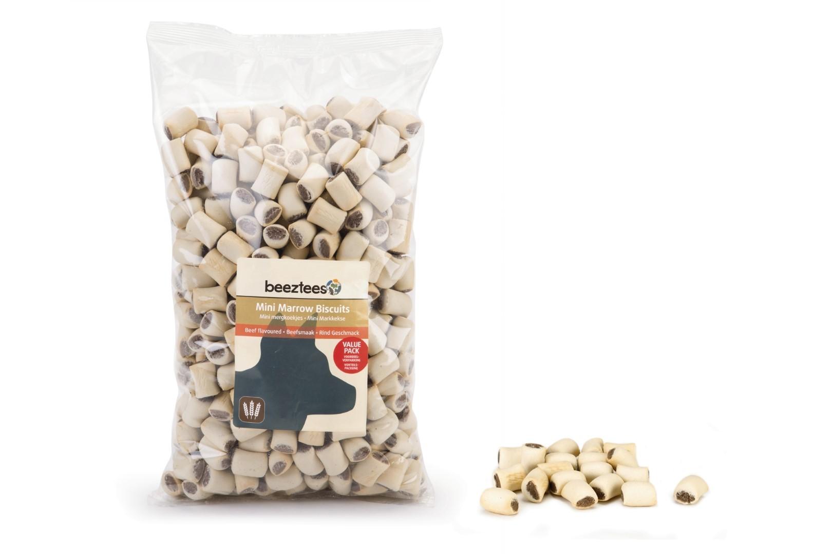 Mini mergkoekjes rund voordeelverpakking 1400g