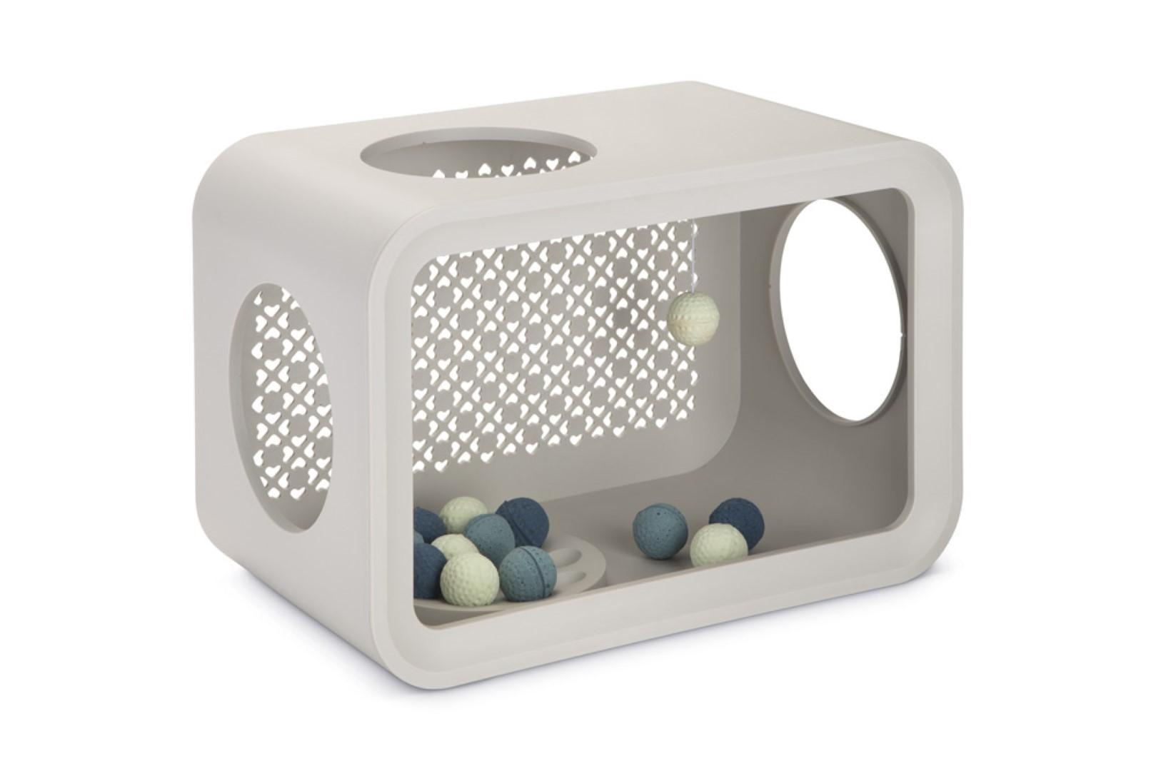 Beeztees cat cube play dune grey 49