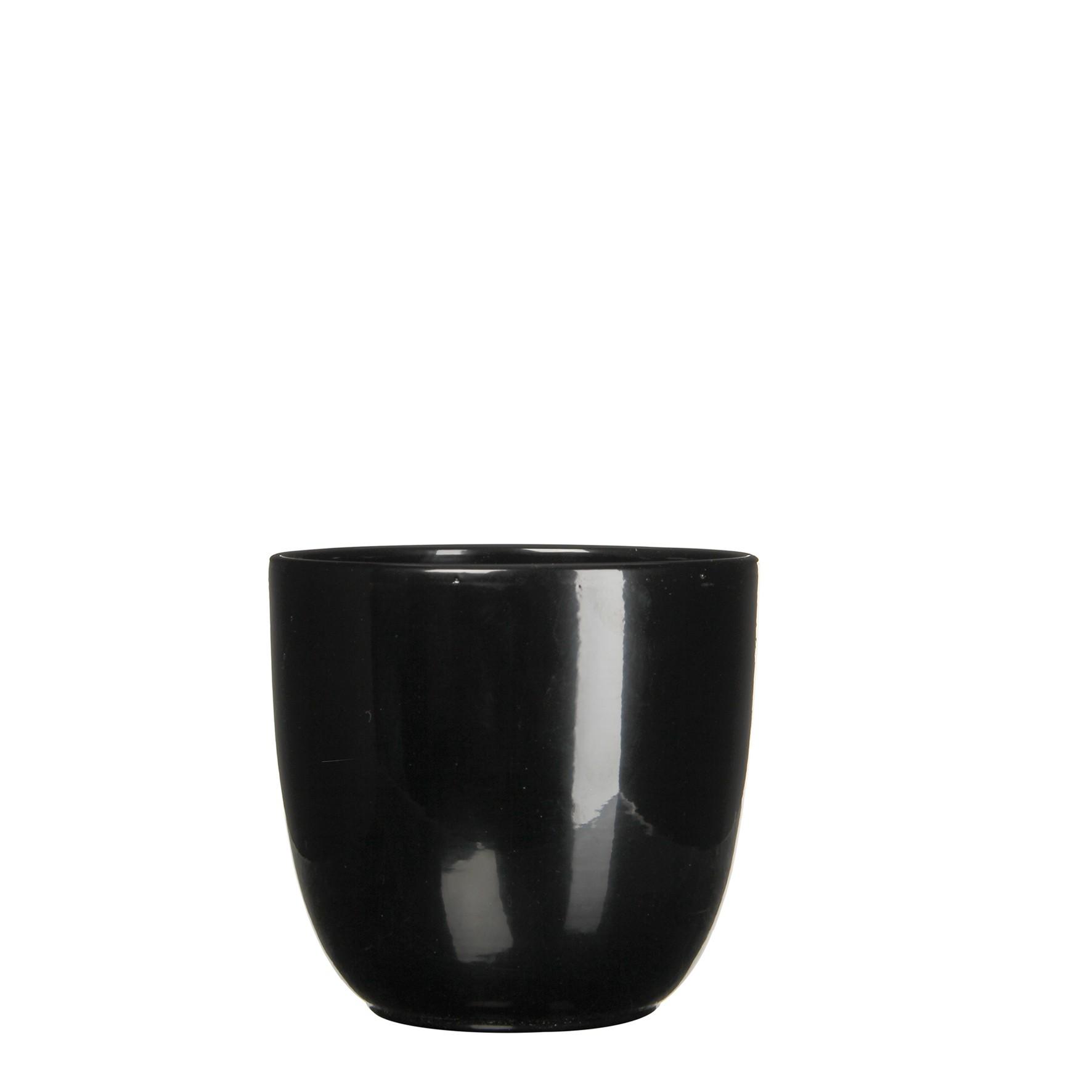 Bloempot Pot rond es/15 tusca 16 x 17 cm zwart Mica