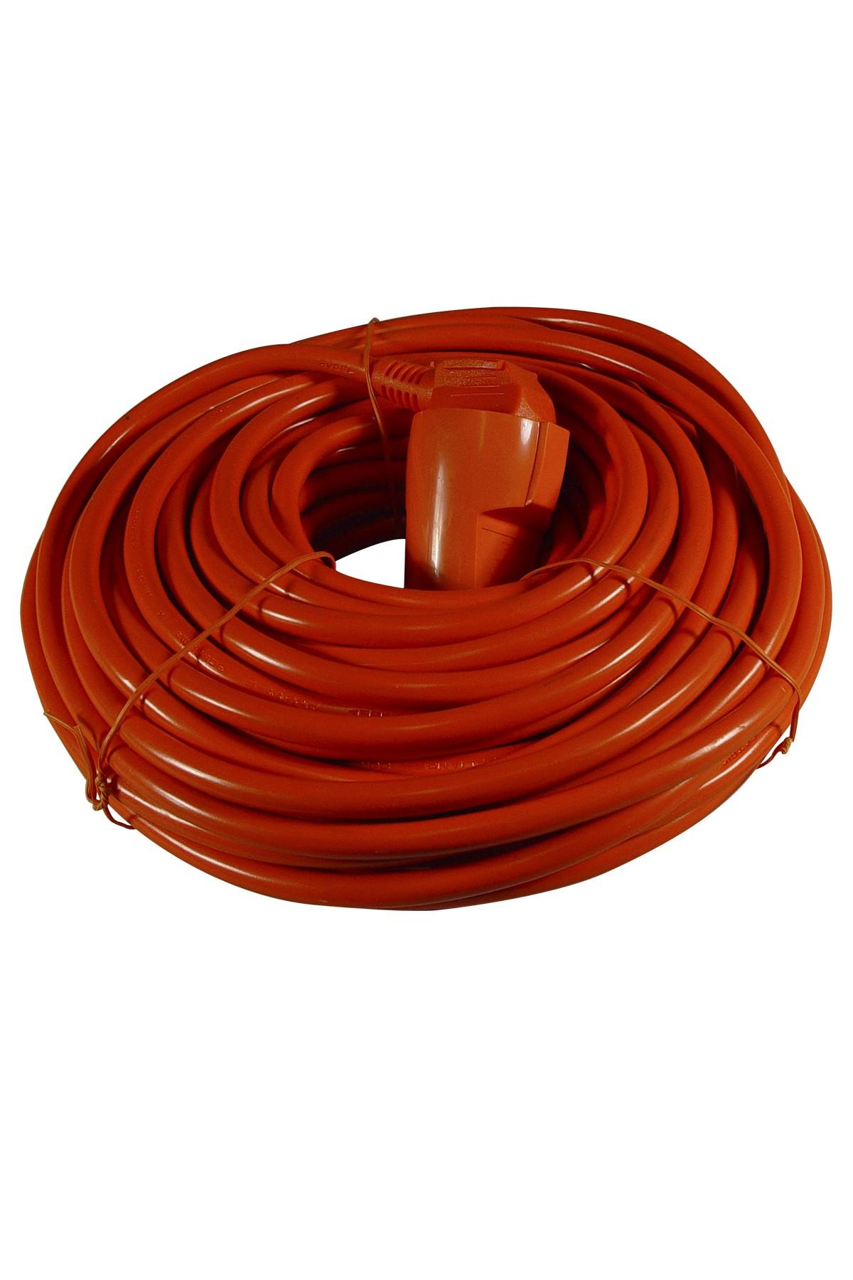 Verlengkabel 20 mtr oranje 3x1,5 mm