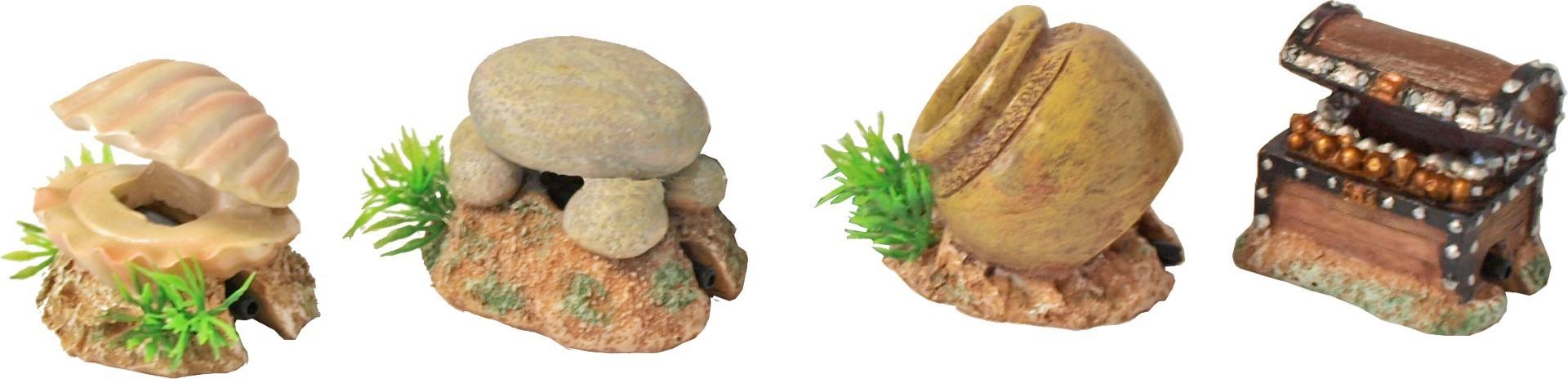 Polyresin ornament schelp met uitstromer 5.5 cm