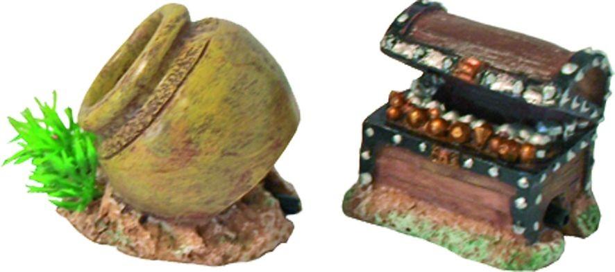 Polyresin ornament pot met uitstromer 5.5 cm