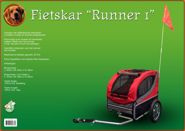 Fietskar Runner 1 rood/grijs
