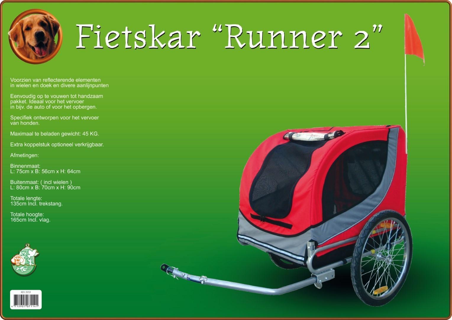 Fietskar Runner 2 rood/grijs