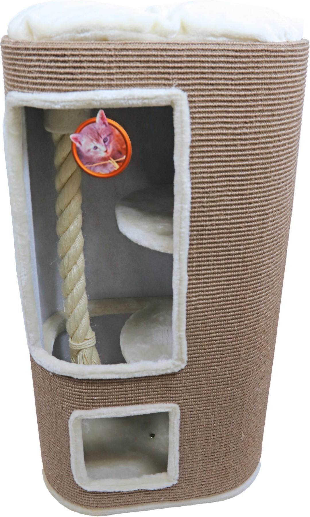 Klimton sisal ovaal 2-gaats 100 cm taupe/creme