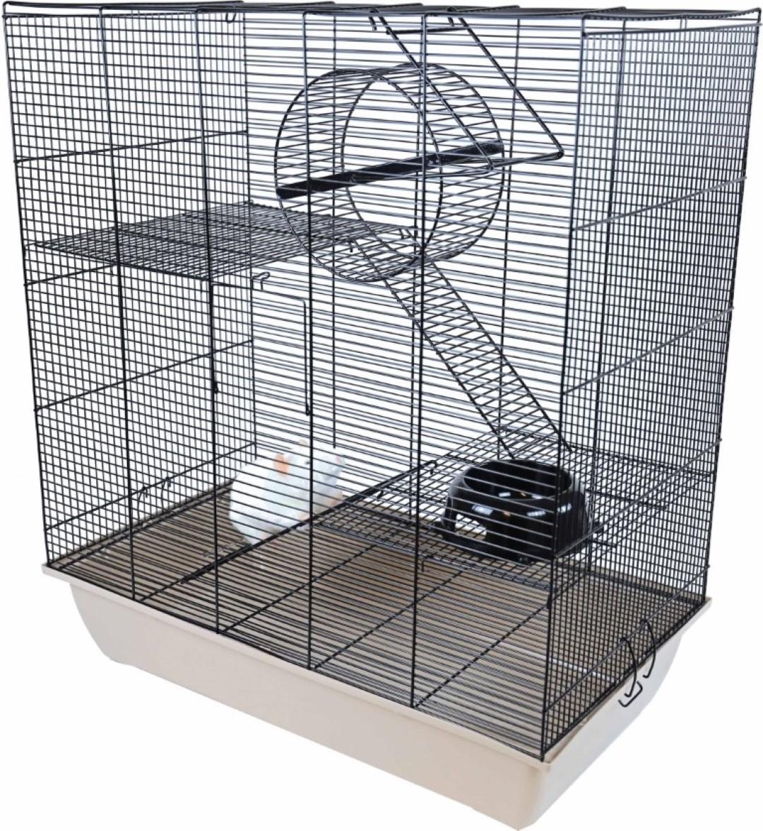 Interzoo rattenkooi Rat 70 zwart/beige