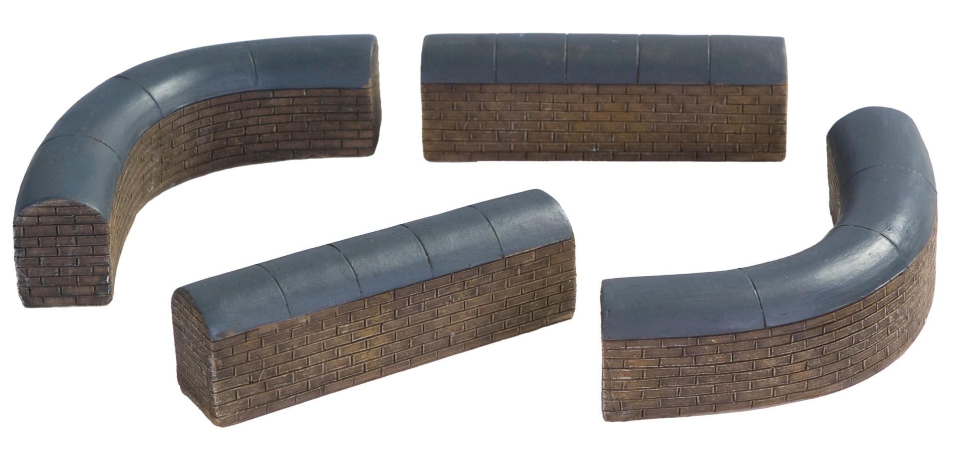 Muren laag set van 4