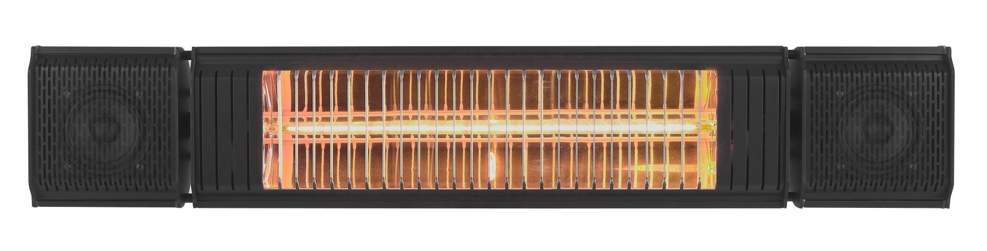 Elektrische terrasverwarmer Heat and Beat Zwart