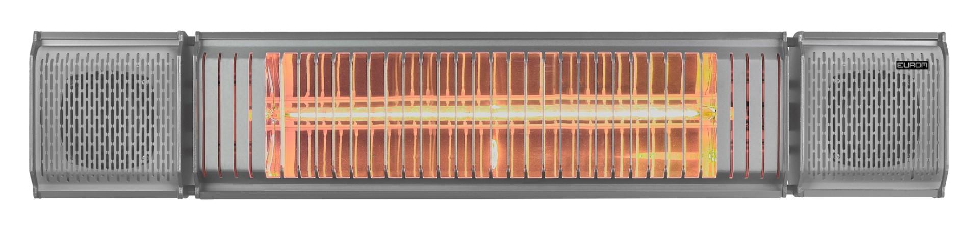 Elektrische terrasverwarmer Heat and Beat Grijs