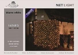 Netverlichting 180 lampjes warm wit Net Light