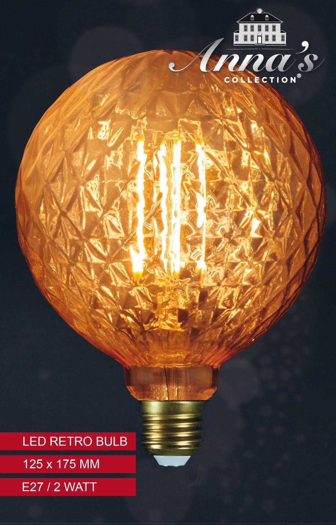 Led retro lamp kristal 125x175mm 2w/e27 Anna's collection