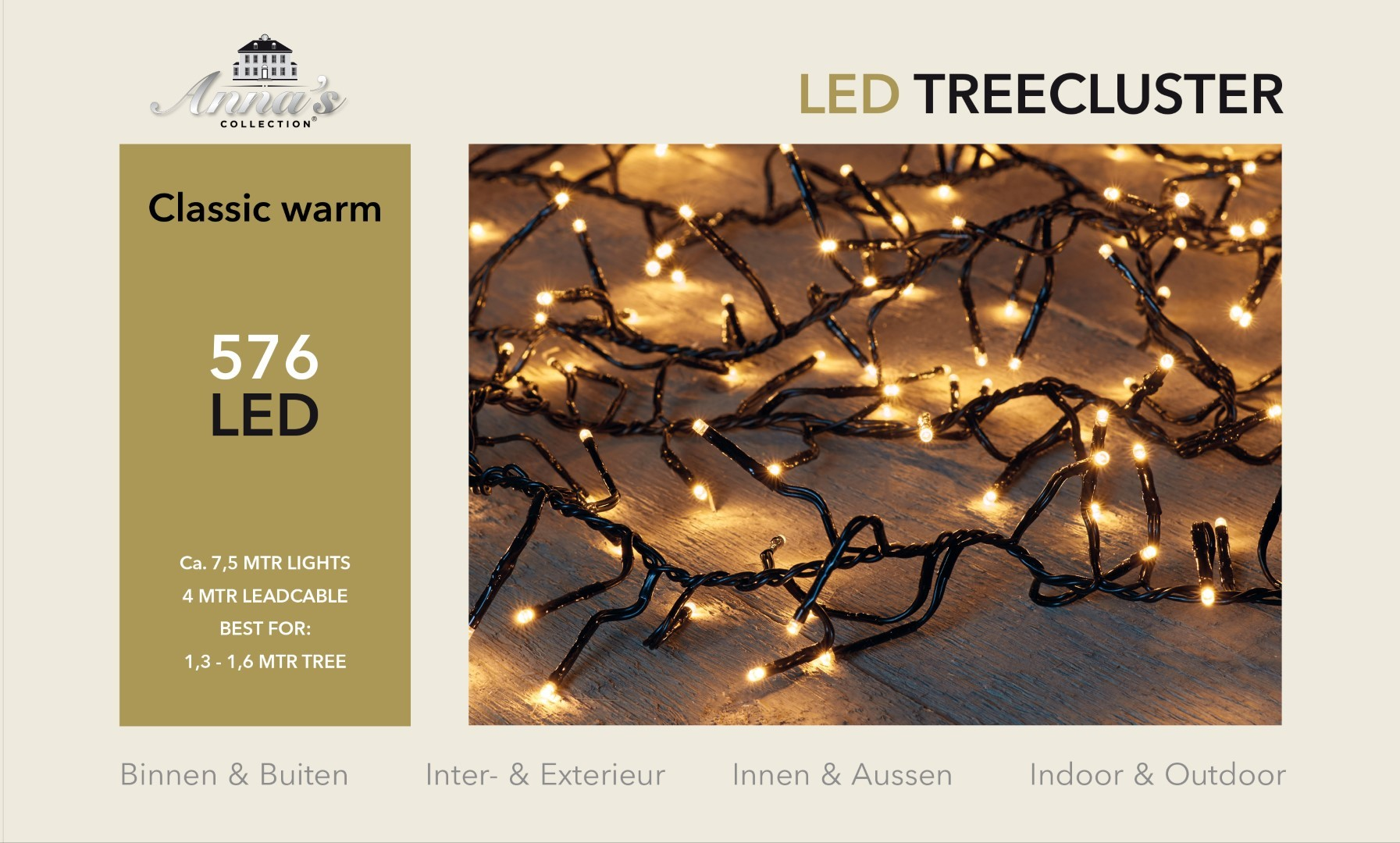 1,3-1,6m treecluster 7,5m/576led classic warm Anna's collection