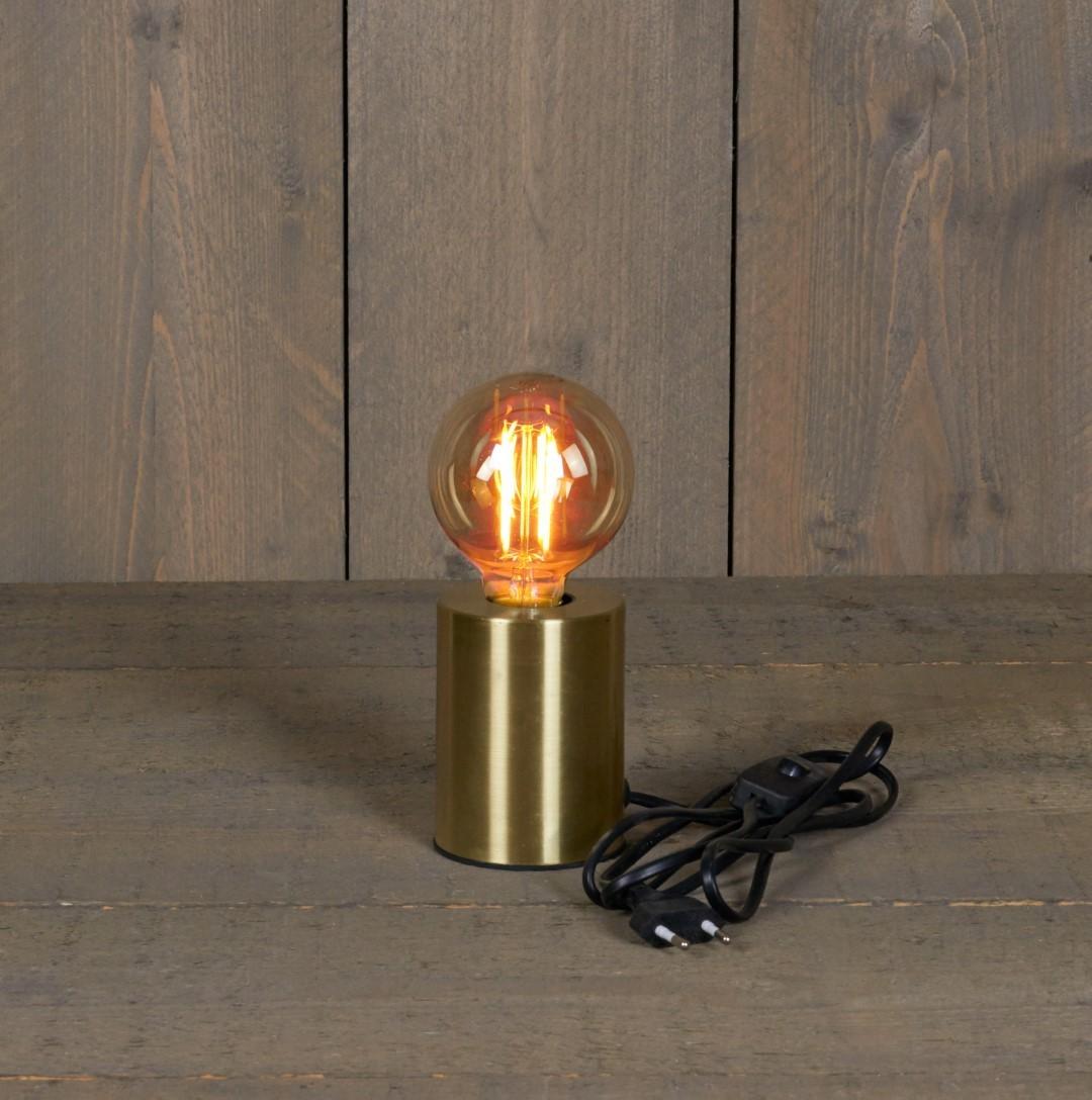 Tafellamp goud 7,5x10 cm e27 1,5 m snoer