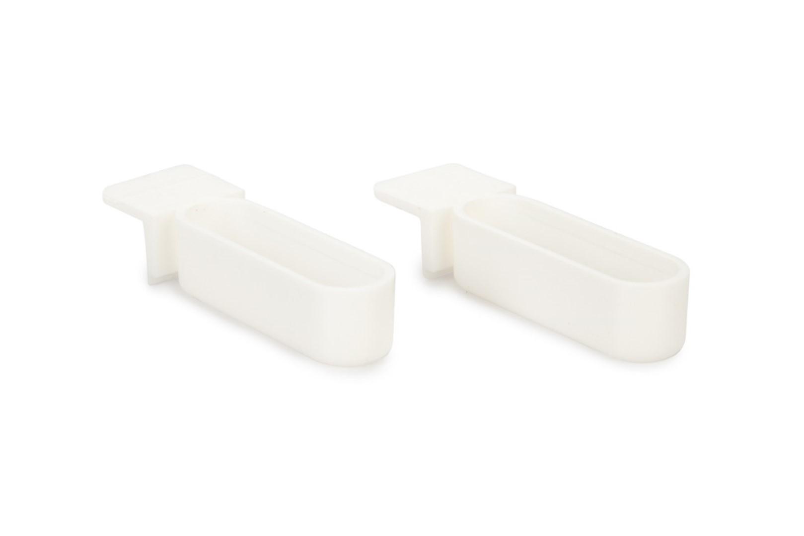 plastic snoepbakje smal wit 2x 1,3