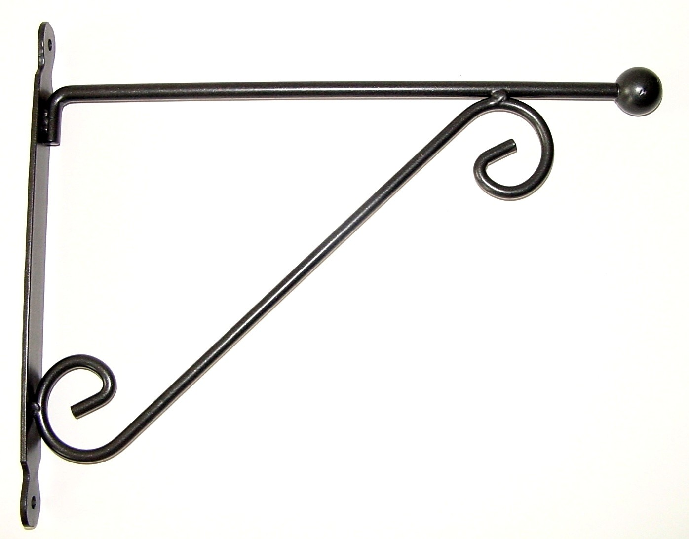 Bloembak Muurhaak bol antraciet 39 cm Nnice