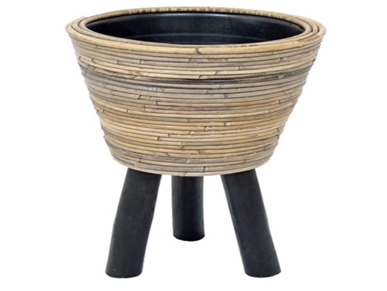 Drypot op poten streep D46H44 cm