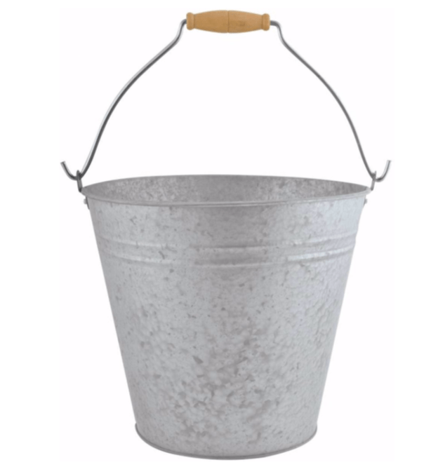 Esschert Design oud zink emmer 9,5 liter