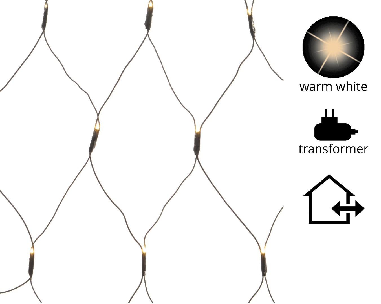 LED netverlichting buiten/3x3m-384L/zwart/warm wit